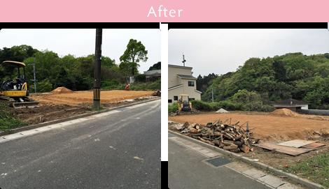 雑草地からの宅地造成 After