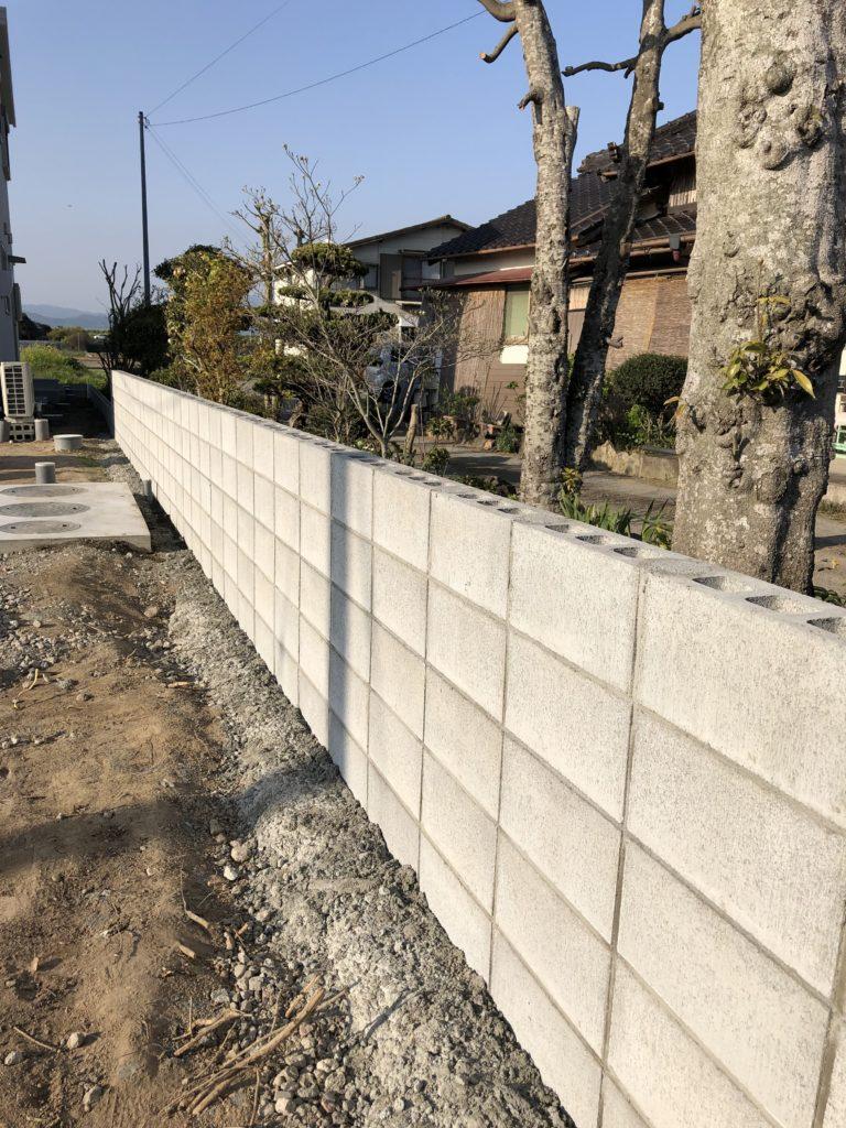 新築外構  境界ブロック終わり〜✨久留米市 K様邸